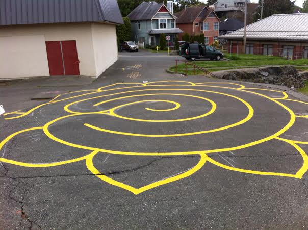 Vic West Elementary labyrinth: Click to enlarge
